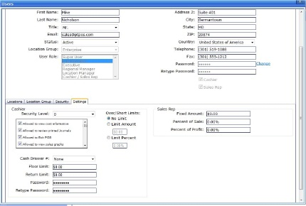 OpSuite User Control Screen Shot - Click image for larger view.